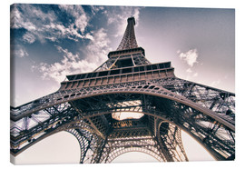 Stampa su tela  Paris - up to the sky and back