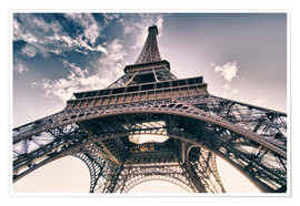 Poster Premium  Paris - up to the sky and back
