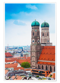 Poster Premium  Towers of Frauenkirche in Munich