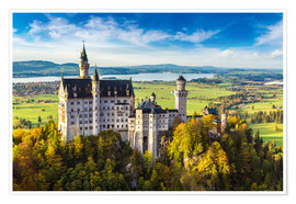 Poster Premium  Neuschwanstein castle in summer