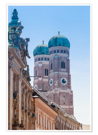 Poster Premium  The Frauenkirche in Munich