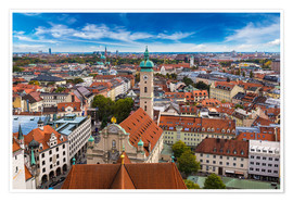 Poster Premium  Aerial view of Munich