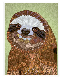 Poster Premium  Happy Sloth - Angelika Parker