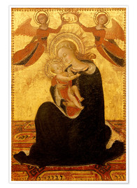 Poster Premium Madonna and Child with Angels