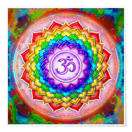 Poster Premium  The Crown Chakra Series V - rainbow colors - Dirk Czarnota