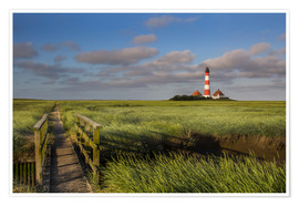 Poster Premium  Lighthouse in the salt marshes on the North Coast