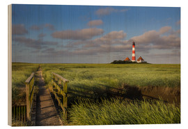 Stampa su legno  Lighthouse in the salt marshes on the North Coast