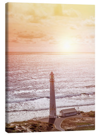 Stampa su tela  Morning glow at the lighthouse