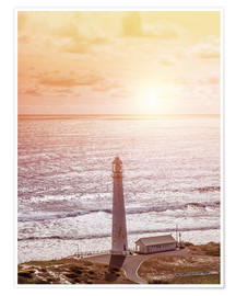 Poster Premium  Morning glow at the lighthouse