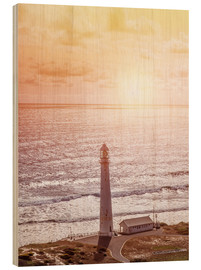 Stampa su legno  Morning glow at the lighthouse