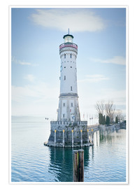 Poster Premium  beautiful lighthouse at Lindau