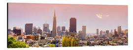 Stampa su alluminio  San Francisco Skyline Red - Michael Rucker