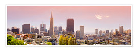 Poster Premium  San Francisco Skyline Red - Michael Rucker