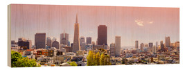 Stampa su legno  San Francisco Skyline Red - Michael Rucker