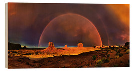 Stampa su legno  Monument Valley Rainbow - Michael Rucker