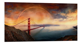 Stampa su PVC  Frisco Golden Gate Rainbow - Michael Rucker