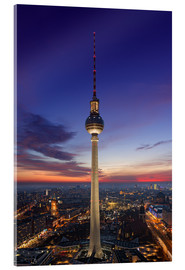 Vetro acrilico  Berlin TV tower at night