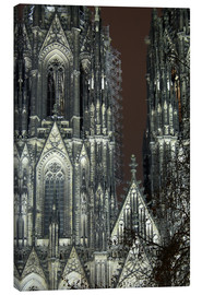 Stampa su tela  Detail of Cologne Cathedral