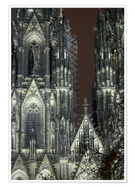 Poster Premium  Detail of Cologne Cathedral