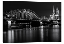 Stampa su tela  Cologne Cathedral and bridge