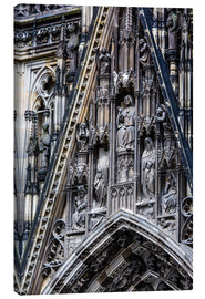 Stampa su tela  Facades detail at Cologne Cathedral