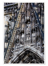 Poster Premium  Facades detail at Cologne Cathedral