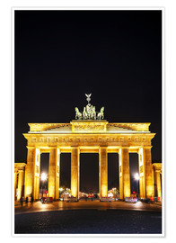 Poster Premium  Brandenburg gate (Brandenburger Tor) in Berlin