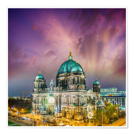 Poster Premium  Berliner Dom - German Cathedral at sunset