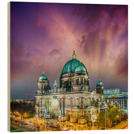 Stampa su legno  Berliner Dom - German Cathedral at sunset