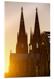 Stampa su vetro acrilico  Sunset behind the Cologne Cathedral