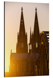Alluminio Dibond  Sunset behind the Cologne Cathedral