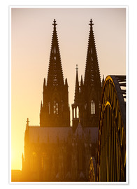 Poster Premium  Sunset behind the Cologne Cathedral