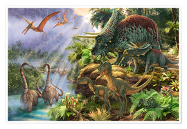 Poster  13813 Dinosaur Valley - Steve Read
