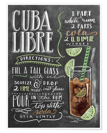 Poster Premium  Ricetta Cuba Libre (in inglese) - Lily & Val