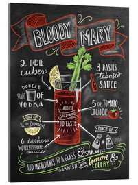 Stampa su vetro acrilico  Ricetta Bloody Mary (in inglese) - Lily & Val