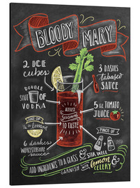 Stampa su alluminio  Ricetta Bloody Mary (in inglese) - Lily & Val