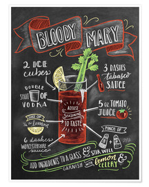 Poster Bloody Mary recipe