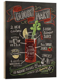 Stampa su legno  Ricetta Bloody Mary (in inglese) - Lily & Val
