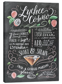 Stampa su tela  Ricetta Lychee Cosmo (in inglese) - Lily & Val