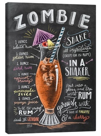 Stampa su tela  Ricetta Zombie Cocktail (in inglese) - Lily & Val