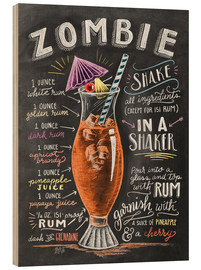 Stampa su legno  Ricetta Zombie Cocktail (in inglese) - Lily & Val