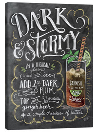 Stampa su tela  Ricetta cocktail Dark & Stormy (in inglese) - Lily & Val