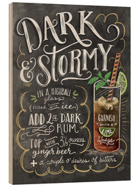 Stampa su legno  Ricetta cocktail Dark & Stormy (in inglese) - Lily & Val