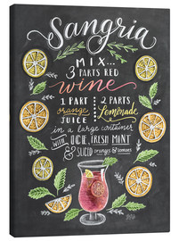 Stampa su tela  Ricetta Sangria (in inglese) - Lily & Val