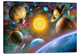 Stampa su tela  Outer Space - Adrian Chesterman