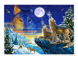 Poster  Howling Wolves - Adrian Chesterman