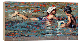 Stampa su legno  Playing In The Shallows - Claire McCall