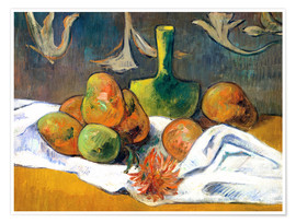 Poster Premium Still Life with Teapot and Fruit