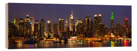 Legno  Illuminated New York skyline at night