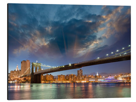 Alluminio Dibond  Brooklyn Bridge in stunning colors